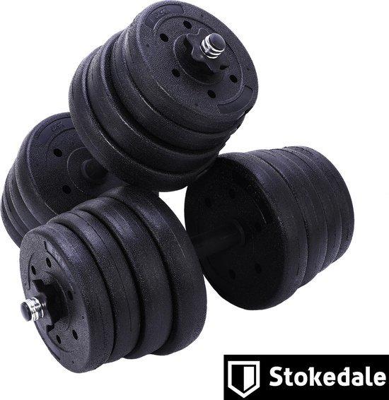 stokedale dumbells set van 30 kg