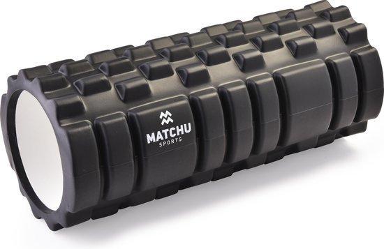 zwarte matchu sports foam roller