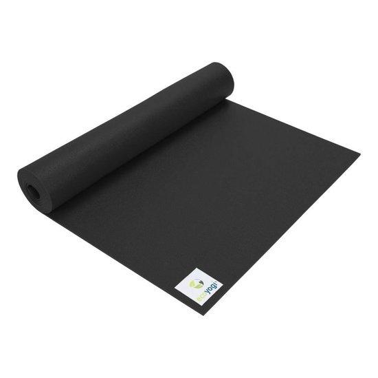 extra lange ecoyogi yogamat in het zwart