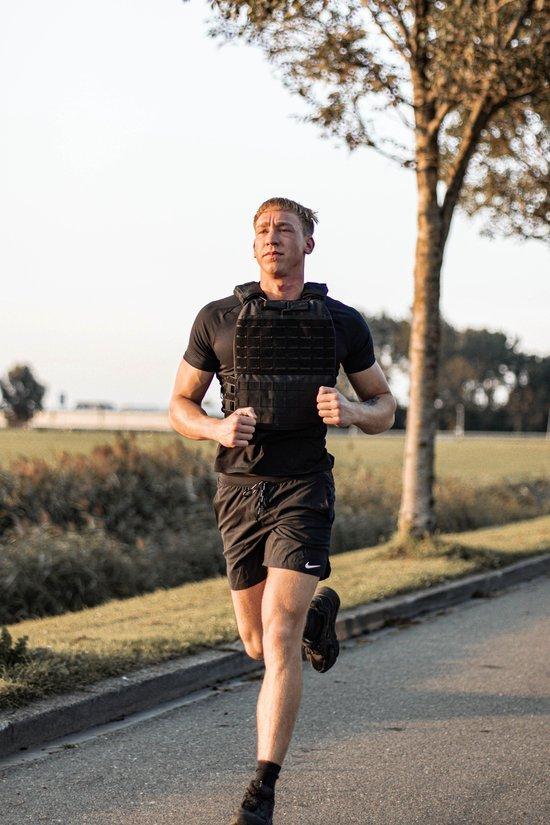 gewichtsvest 15 kg zwart hardlopen