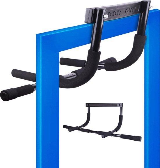 zwarte pull up bar voor aan de deur